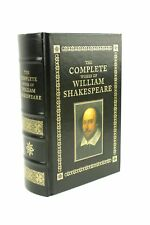 The Complete Works of William Shakespeare Leather Gilt 1994 Barnes & Noble