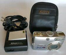 Nikon COOLPIX P4 8.1MP Digital Camera - Silver with Case