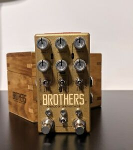 Chase Bliss Audio Brothers. Dual Boost, Overdrive & Fuzz. Wooden Box. Rare Pedal