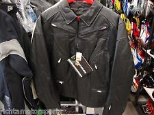 NEW FIRSTGEAR LADIES  BLACK DIAMOND LEATHER JACKET - Black - Size L ~ 50-3186