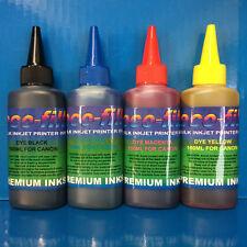 4x100ml ECOFILL Dye Printer Refill Ink For Canon Pixma MG5150 MG5250 MG5350 S