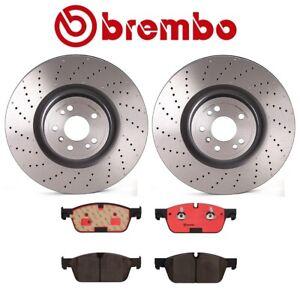 For MB X166 W166 Brembo Front Brake Kit Drilled Disc Rotors & Ceramic Brake Pads