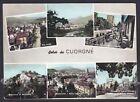 TORINO CUORGNÈ 11 SALUTI da... VEDUTINE Cartolina FOTOGRAFICA viaggiata 1962