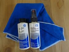 CAR CLEANING KIT 3 Pc Wash Wax Protectant Spray Blue Microfiber Cloth