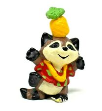 Rare 1990 Raccoon Tourist With Pineapple On Head Merry Miniature Ornament Cute