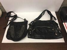 2 B. Makowsky Shoulder Bag & Cross body Black Leather Handbag