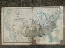 1864 Civil War Map Union & Confederate Boundaries