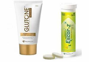 Skin Lightening Combo Skin whitening Escor-Z 20 Tablets with Glutone Face Wash
