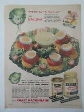 Vintage Australian advertising 1950 ad KRAFT MAYONNAISE SALAD DRESSING