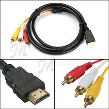 1.5m HDMI Male to 3 RCA Video Audio Converter Component AV Adapter Cable HDTV