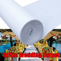 49ft White Wedding Aisle Runner Ceremony Decoration Marriage Party Carpet Roll