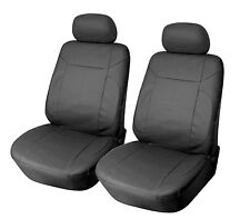 2 front car seat covers PU leather compatible to BMW #15301 Black
