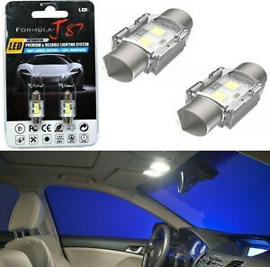 LED 5W Light CANbus 28-29MM White 6000K Two Bulb Interior Dome Replacement Stock