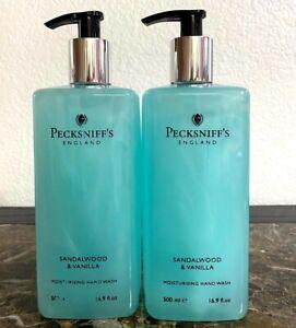 Pecksniff's Sandalwood & Vanilla Moisturising Hand Wash 16.9 oz Lot of 2 New