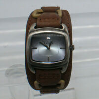 Dakota Watch Brown Leather 2 Piece Strap Band with Gray Face