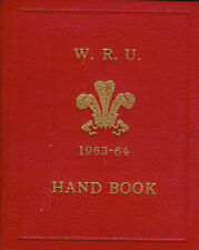 1963 - 1964 WELSH RUGBY UNION HANDBOOK - HARDBACK, INFORMATION ON RUGBY IN WALES
