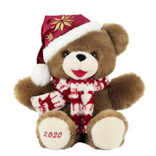 "SNOWFLAKE CHRISTMAS TEDDY BEAR BOY DATED 2020 12"" FREE SHIPPING"