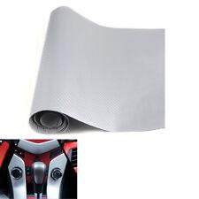 "White Carbon Fiber Texture Decal Dashboard Vinyl Wrap Decor Sticker 12""x50"""
