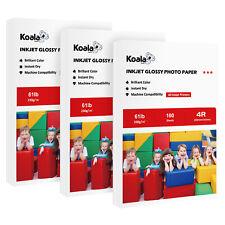 "300 Sheets Koala 4x6"" Premium Glossy Inkjet Printer Photo Paper Epson Canon 61lb"