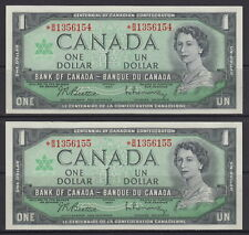 1967 BANK OF CANADA $1 DOLLAR *B/M 1356154 - *B/M 1356455 UNC REPLACEMENT NOTES
