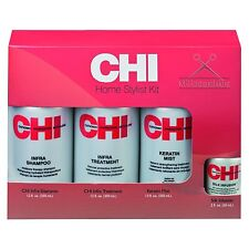 CHI FAROUK HOME STYLIST KIT: Shampoo +Keratin Mist +Treatment  +Silk Infusion