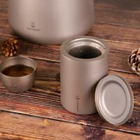 EDC Pure Titanium Double Deck Coffee Tea Mug Cup with Titanium Strainer Tools