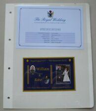 More details for 2011 royal engagement william & kate 16 nov2010 cook islands miniature sheet mnh