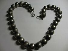 """GORGEOUS VTG ABOUT 15MM STERLING 21"""" BEAD/BALL NECKLACE-100 GRAMS-BOLD&BEAUTIFUL"""