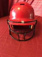 Schutt Youth Baseball Softball Helmet Red with Guard Great Condition Small