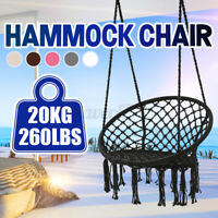 Hanging Cotton Rope Macrame Hammock Chair Swing Outdoor Home Garden Outdoo