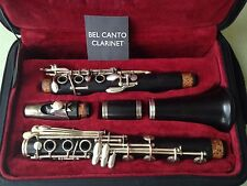 German Boehm Clarinet in Bb from 1972 with extra base note Eb - F A Uebel