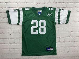 KIDS Curtis Martin #28 New York Jets Adidas NFL Football Jersey Kids Size 5-6