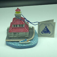 Spoontiques Lighthouse Figurine New Canal La Hand Painted Statue Red Blue White
