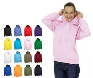 Ladies & Girls Hooded Sweatshirt Size 8 to 30 - HOODIE CASUAL SPORT LEISURE WORK