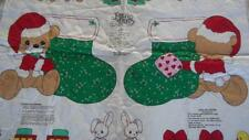 Precious Moments Quilted Fabric Panel Stocking & Bear + Appliques Christmas