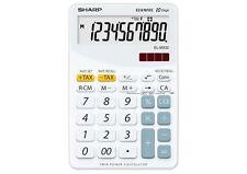 Sharp EL-332BWH Blanca Calculadora 10 Dígitos