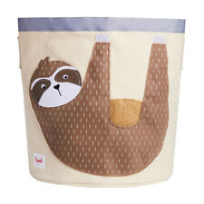 3 Sprouts Canvas Storage Bin Laundry and Toy Basket for Baby and Kids, Sloth