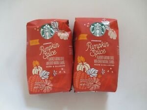 Lot of 2 Starbucks Pumpkin Spice Limited Edition Ground Coffee 11oz Exp 2021