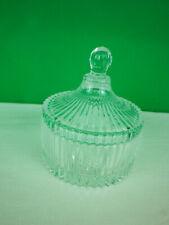 Glasdose mit Deckel Bonbondose Konfektdose Glas gepresst D 10,5 cm kh205
