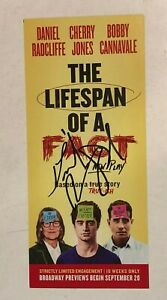 Daniel Radcliffe The LIFESPAN OF A FACT HAND SIGNED Autographed Flyer