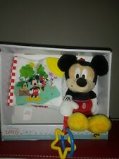 New listing Disney Baby Stroller Toys & Book Gift Set Mickey Mouse New