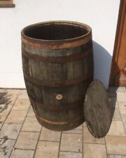 Holzfaß Regentonne mit Deckel gebrauchtes Whiskyfaß Eichenfaß 190L Wasserfaß Faß