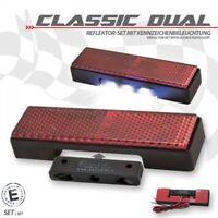 universal Reflektor und LED Kennzeichenbeleuchtung Rückstrahler rot Motorrad KFZ