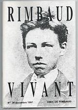 ARTHUR RIMBAUD - Rimbaud vivant N°36 - 1997 - Bulletin des AMIS de l'AUTEUR