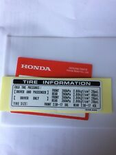 Genuine Honda Tyre Info Decal C50 C70 C90 1996  Cub 50 White Background