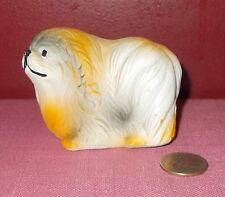 Vintage Old English Sheepdog Figurine Plaster Ceramic China