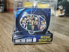 Doctor Who Kurt Adler Glass Disc Ornament Featuring 11 Doctors