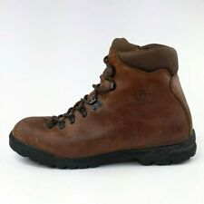Scarpa Vintage Brown Leather Hiking Mountaneering Boots EUR 42.5 Mens Size 8.5-9
