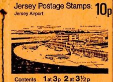 JERSEY POSTAGE STAMP BOOKLET 1974 SB18 JERSEY AIRPORT MARGIN TOP