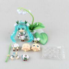 Hatsune Miku Cute Nendoroid Lotus leaf Anime Collectible Action Figure PVC toys